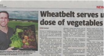 Wheatbelt Serves up dose of vegetables